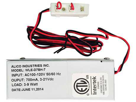 Alico Driver 9W 700Ma W/Wiring Box & 3 Port Harness