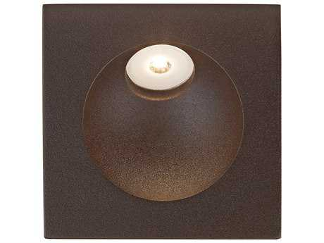 Alico Zone Matte Brown & Opal White Glass Outdoor Step Light