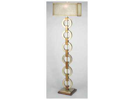 Artmax 22 x 77 Gold Wash & Coppery Gold Wash Floor Lamp