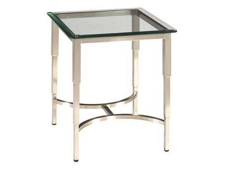 Allan Copley Designs Sheila 20 Square Brushed Stainless Steel End Table