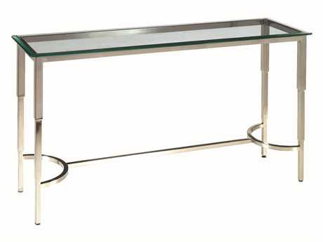 Allan Copley Designs Sheila 52 x 16 Rectangular Brushed Stainless Steel Console Table