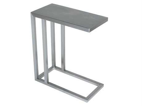 Allan Copley Designs Philosophy 20 x 10 Rectangular Brushed Stainless Steel End Table