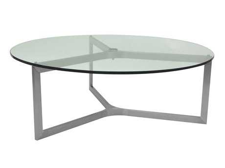 Allan Copley Designs Adrienne 43 Round Clear Coffee Table