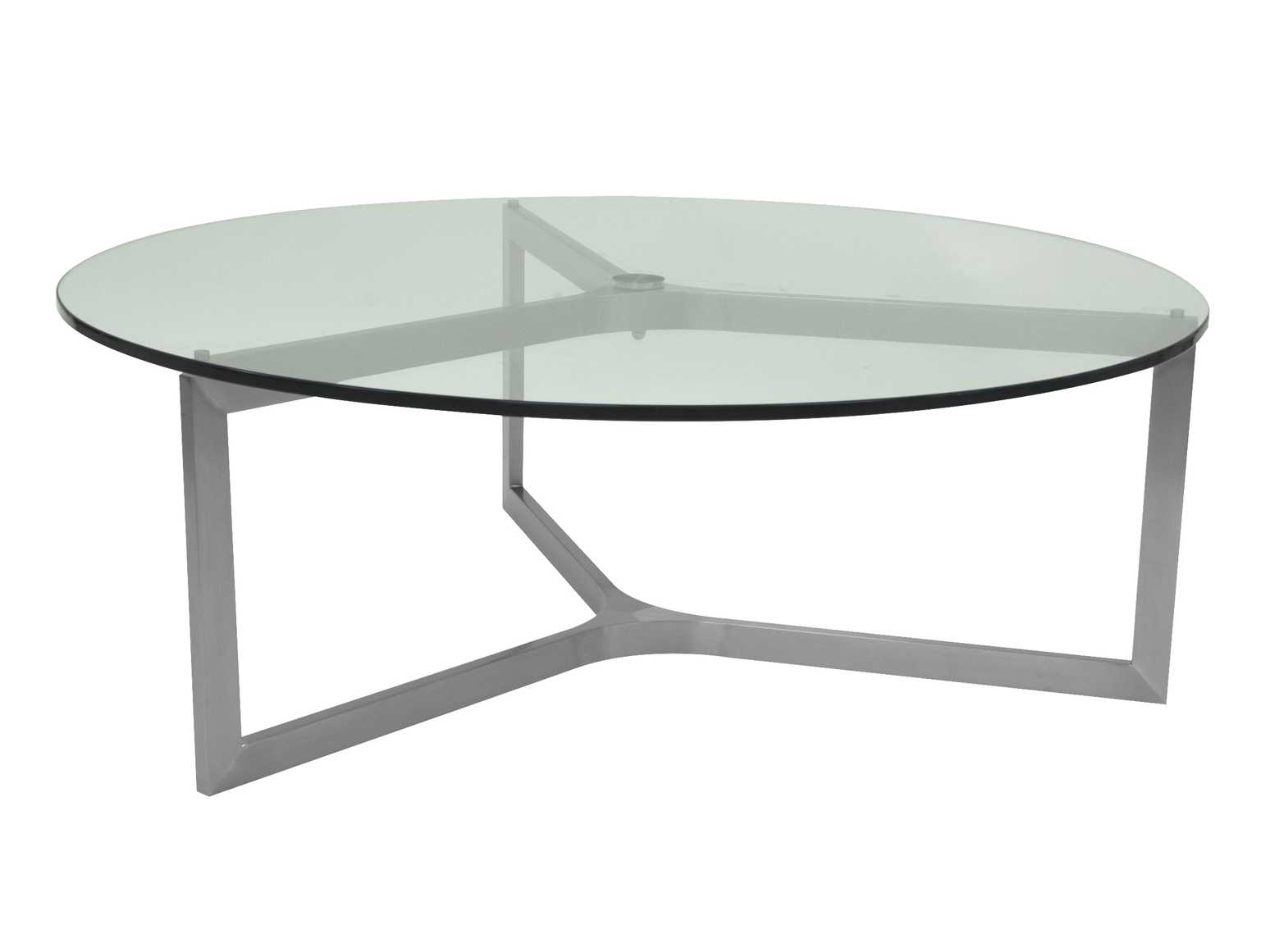 Allan copley designs adrienne 43 round clear coffee table for Adrienne chaise lounge