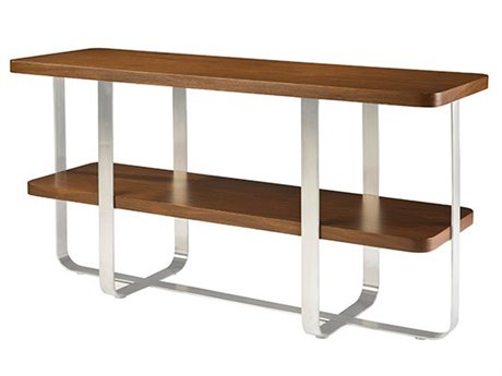 Allan Copley Designs Artesia 54 x 18 Rectangular Walnut/Nickel Console Table
