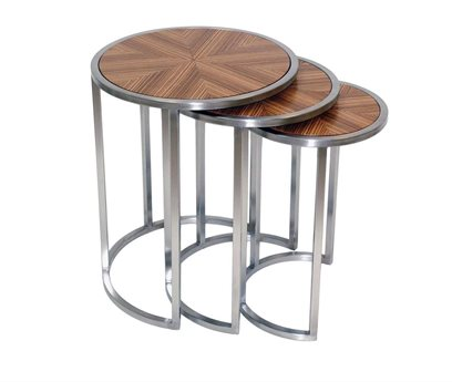 Allan Copley Designs Greta 20 Round Zebrawood &  Satin End Table