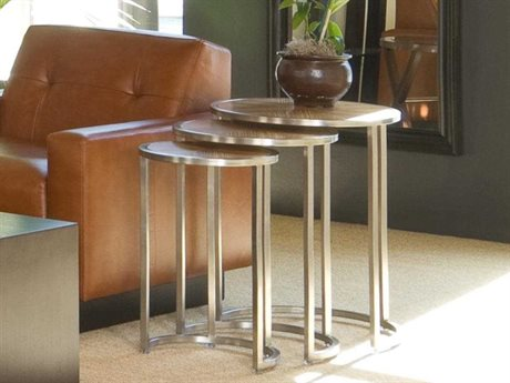 Allan Copley Designs Greta 20 Round Zebrawood &  Satin End Table
