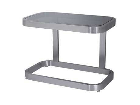 Allan Copley Designs James 16 x 28 Rectangular Stainless Steel End Table