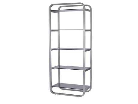 Allan Copley Designs James 30 X 18 Stainless Steel Five-Shelf Bookcase