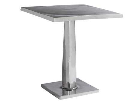 Allan Copley Designs Surina 22 Square Aluminum Pedestal Table