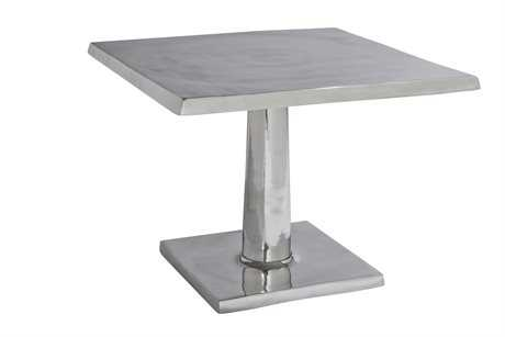Allan Copley Designs Surina 24 Square Aluminum Pedestal Table