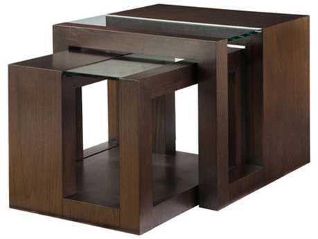 Allan Copley Designs Dado 28'' Wide Square Espresso on Kulin Nesting Table