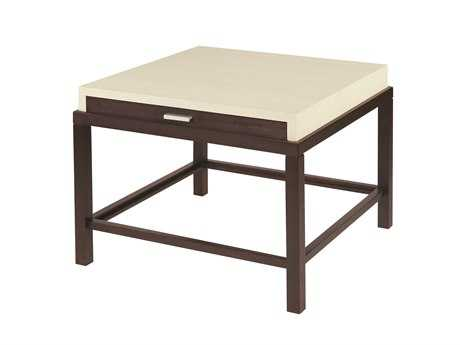 Allan Copley Designs Spats 28 Square Espresso & White End Table