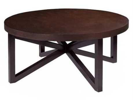 Allan Copley Designs Snowmass 42 Round Espresso Coffee Table
