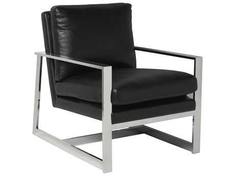 Allan Copley Designs Christopher Black Accent Chair
