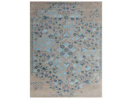 Amer Rugs Artist Silver & Blue Rectangular Area Rug