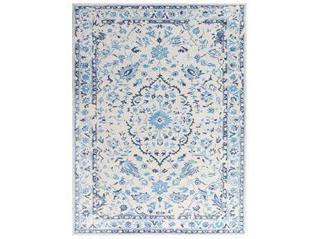 Amer Rugs Artist Rectangular White-Blue Area Rug