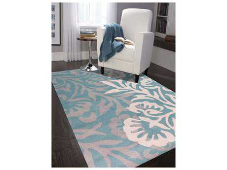 Amer Rugs Bombay Teal Rectangular Area Rug