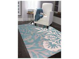 Bombay Teal Rectangular Area Rug