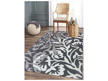 Amer Rugs Bombay Charcoal Rectangular Area Rug