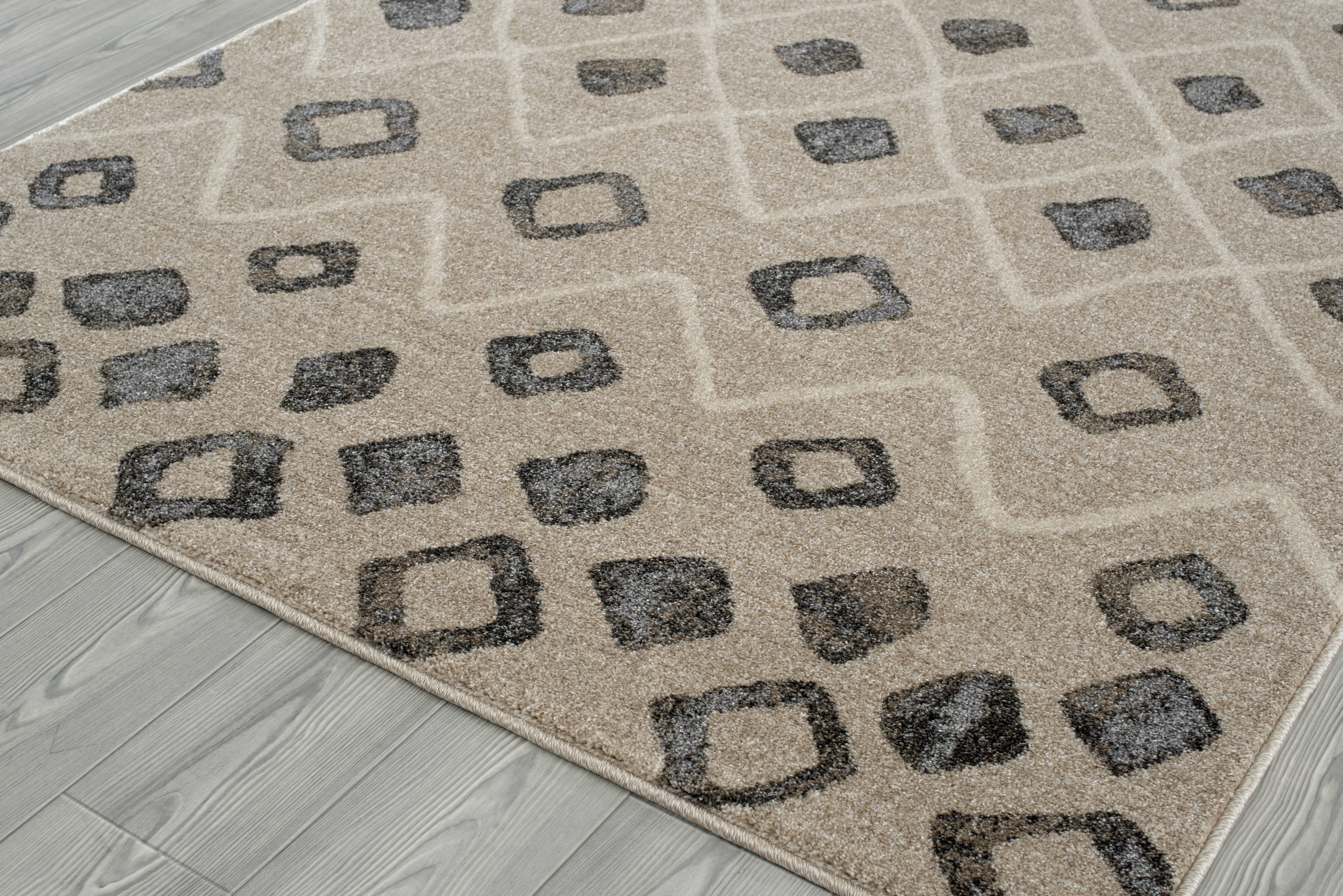 Grey Tan And Brown Area Rug: Amer Rugs Caribe Beige / Brown Gray Rectangular Runner
