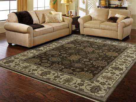 Amer Rugs Luxor Chocolate Rectangular Round Runner Area Rug