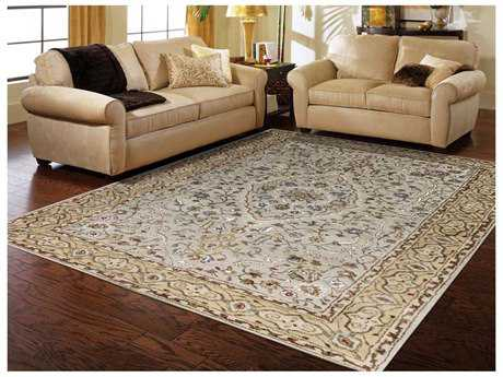 Amer Rugs Eternity Ivory-Gold Rectangular Area Rug