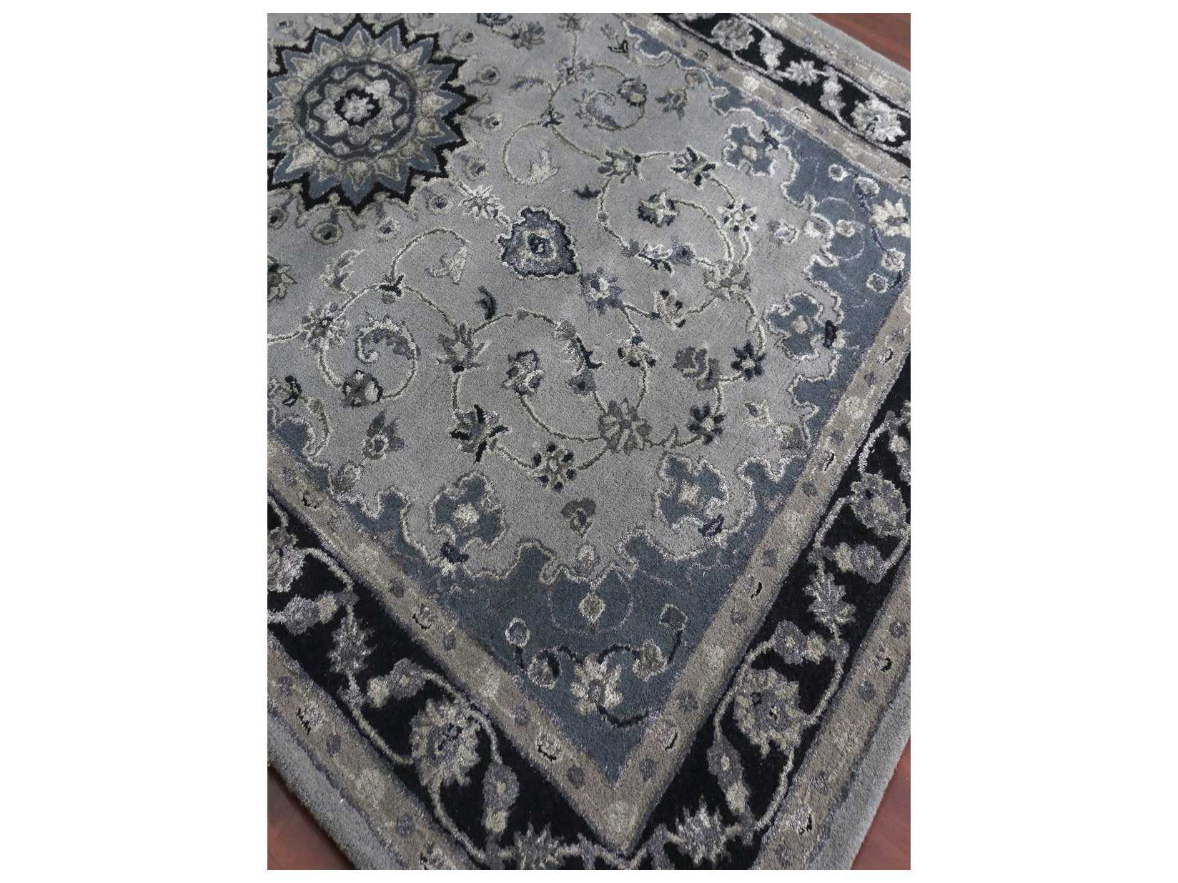 Amer Rugs Eternity Gray Navy Rectangular Area Rug Aretr5hama