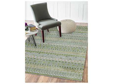 Amer Rugs Feza Apple Green Rectangular Area Rug