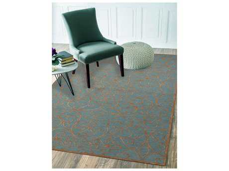Amer Rugs Glow Forest Blue Rectangular Area Rug
