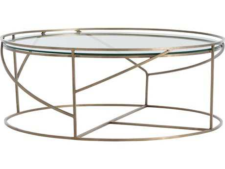 Arteriors Home Rourke Antique Brass 37'' Round Coffee Table