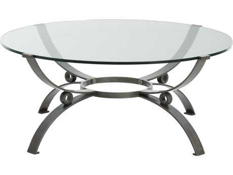 Arteriors Home Sheldon Natural Iron 38'' Round Coffee Table