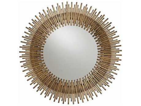Arteriors Home Prescott Antique Gold leaf 30.5'' Round Wall Mirror