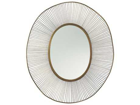 Arteriors Home Olympia Antique Brass 34''W x 41''H Oval Wall Mirror