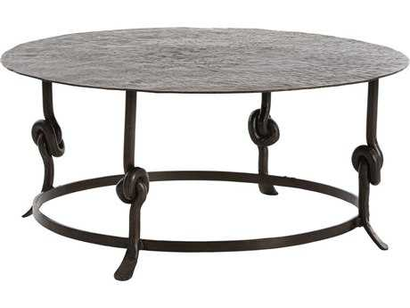 Arteriors Home Arnot Natural Iron 38'' Wide Round Cocktail Table