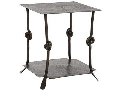 Arteriors Home Arnot Natural Iron 24'' Wide Square End Table