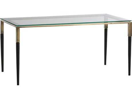 Arteriors Home Townley Natural Iron with Antique Brass 36''L x 18''W Rectangular Coffee Table