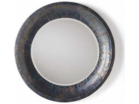 Arteriors Home Gordon Oxidized Iron Clad 30'' Round Wall Mirror