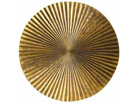 Arteriors Home Apollo Metallic Gold Clad 12'' Wide Plaque
