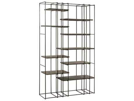 Arteriors Home Terrace Natural Iron with Sandblast Wood 47''L x 82.5''H Bookshelf
