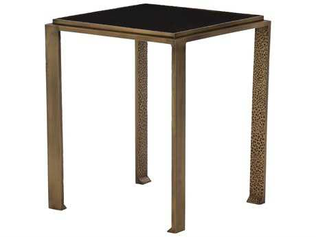 Arteriors Home Terence Black Granite 15'' Square End Table