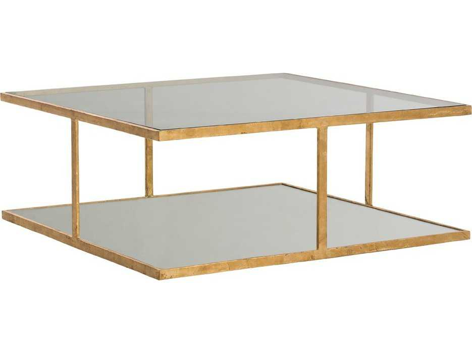 Arteriors home barlow gold leaf with clear glass 36 39 39 wide for Coffee tables 50cm wide