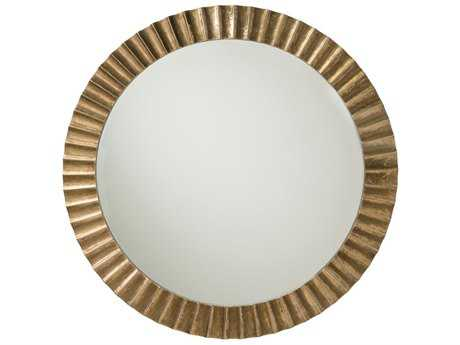 Arteriors Home Ainsley Antique Brass 60'' Wide Round Wall Mirror