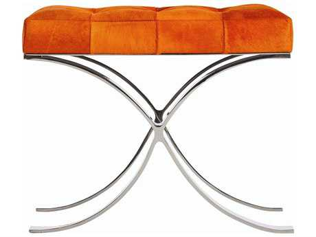 Arteriors Home Decker Orange Accent Bench
