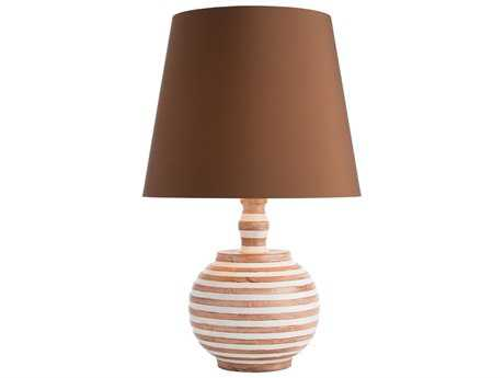 Arteriors Home Shirley Natural Wood & White Buffet Lamp