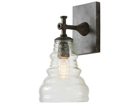 Arteriors Home Madeline Natural Iron with Seedy Glass Wall Sconce