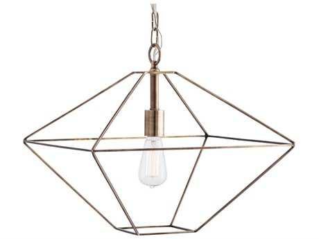 Arteriors Home Skyler Antique Brass 17'' Wide Pendant Light