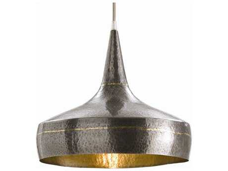 Arteriors Home Mason Dark Silver with Brass 13'' Wide Pendant Light