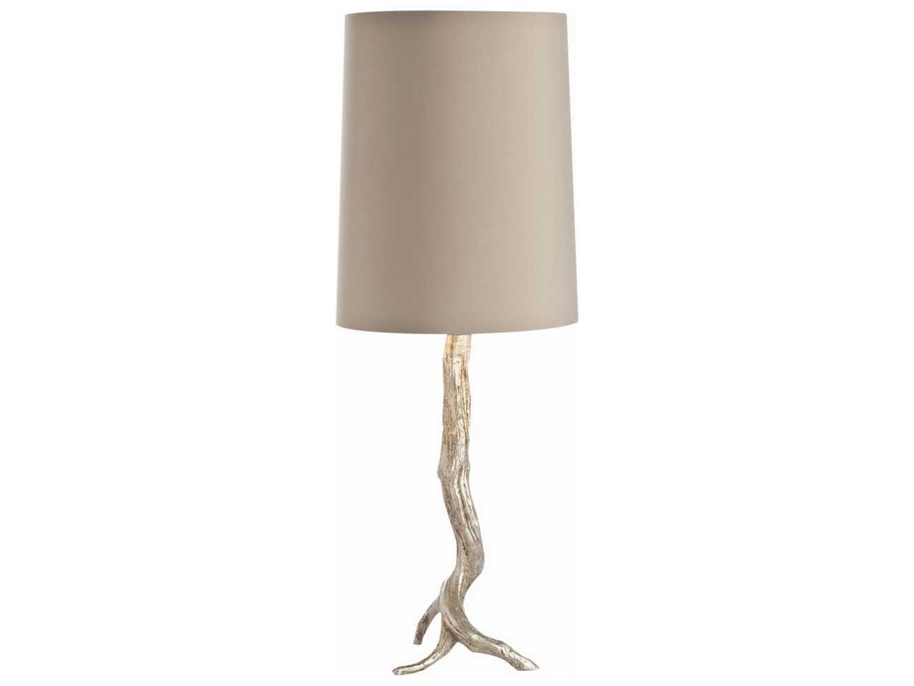 Arteriors home adler distressed silver buffet lamp for Distressed silver floor lamp