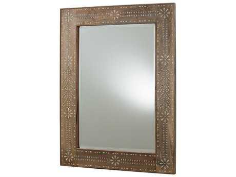 Arteriors Home Kara Natural Wax 34''W x 46.5''H Rectangular Wall Mirror